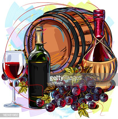 Wine Background : Vector Art