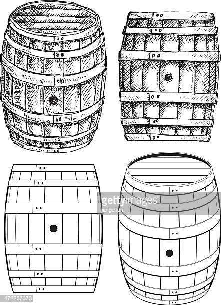 Ilustraciones de stock y dibujos de barril de vino getty - Barril de vino ...