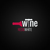 wine bottle symbol on black background 10 eps