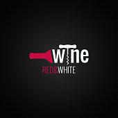 wine bottle symbol on black background 10 eps