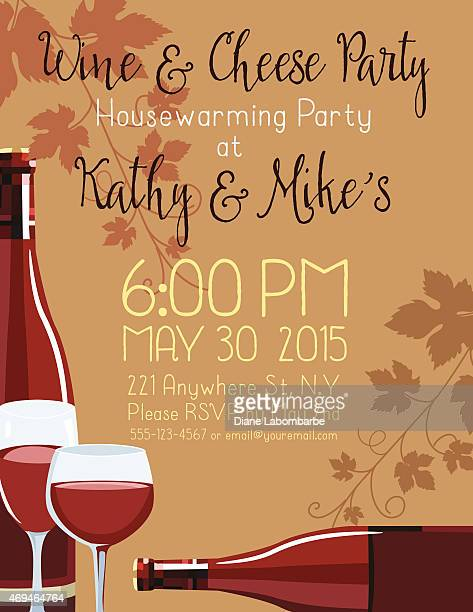 housewarming party invitation template vector art | getty images, Invitation templates