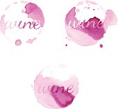 Wine stain circles. Vector