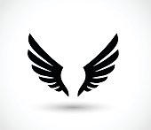 Wings icon  - simple vector illustration isolated on white background