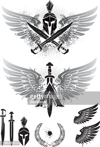 wings of Sparta : Vector Art