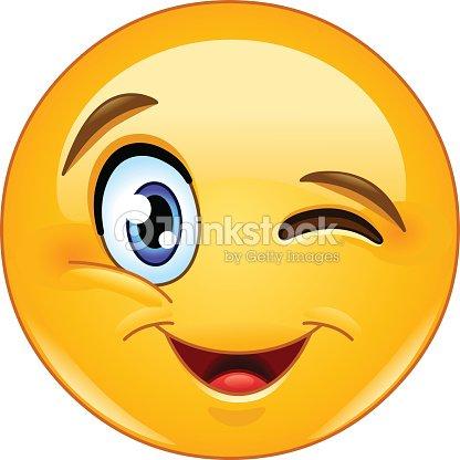 Zwinker smiley flirten