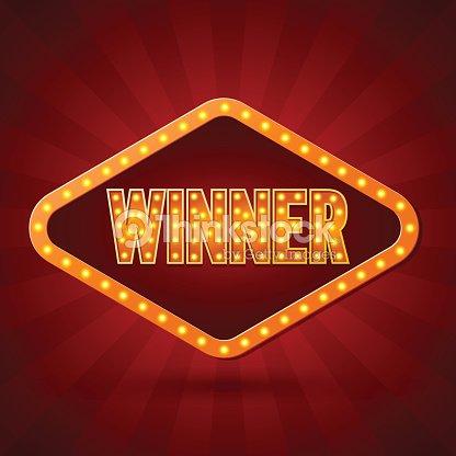 winner banner lighting vector illustration vector art thinkstock