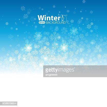 Winter background : Vector Art