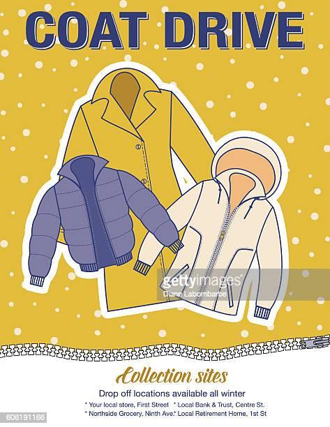 Winter coat template