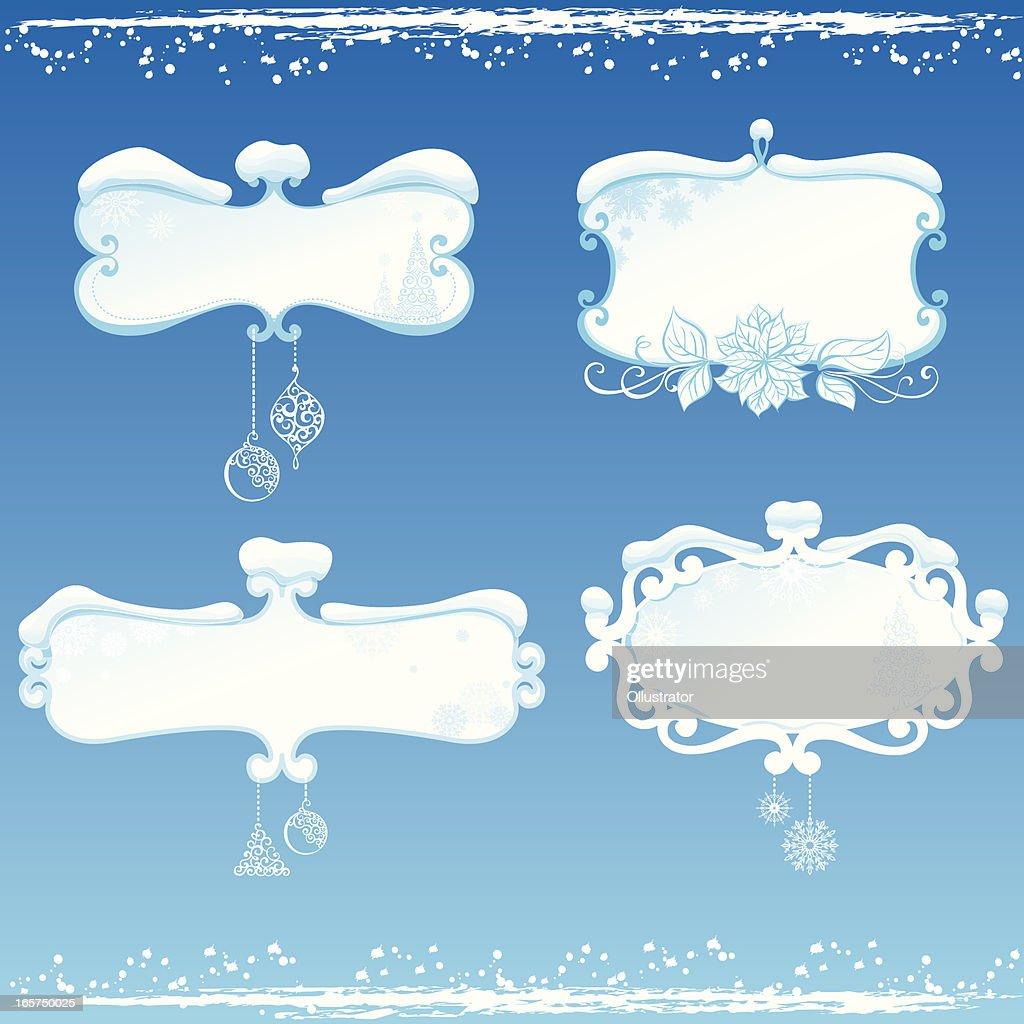 winter frames vector art - Winter Frames