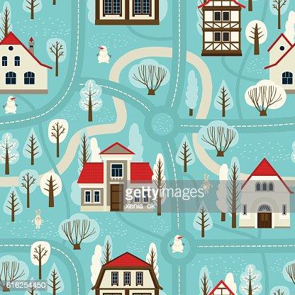 Paisaje de invierno  : Arte vectorial