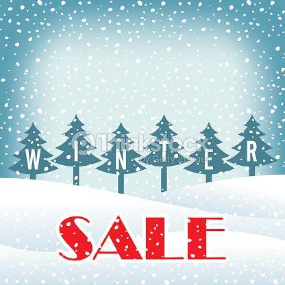 winter sale poster design template creative business promotional