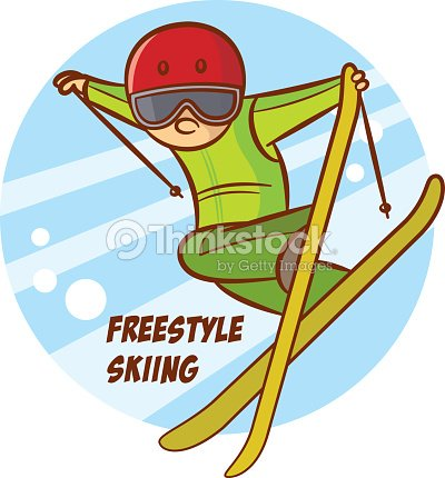 Winter Sport Freestyle Skiing Sticker