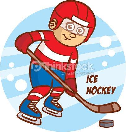Winter Sport Ice Hockey Sticker