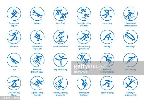 Winter sports icons set : Vector Art