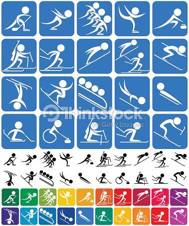 Winter Sports Symbols Vector Art Thinkstock
