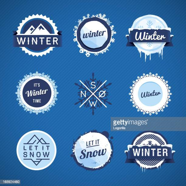 Winter Vector Badges