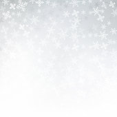 Winter white background christmas made of snowflakes and snow with blank copy space for your text, Vector illustration