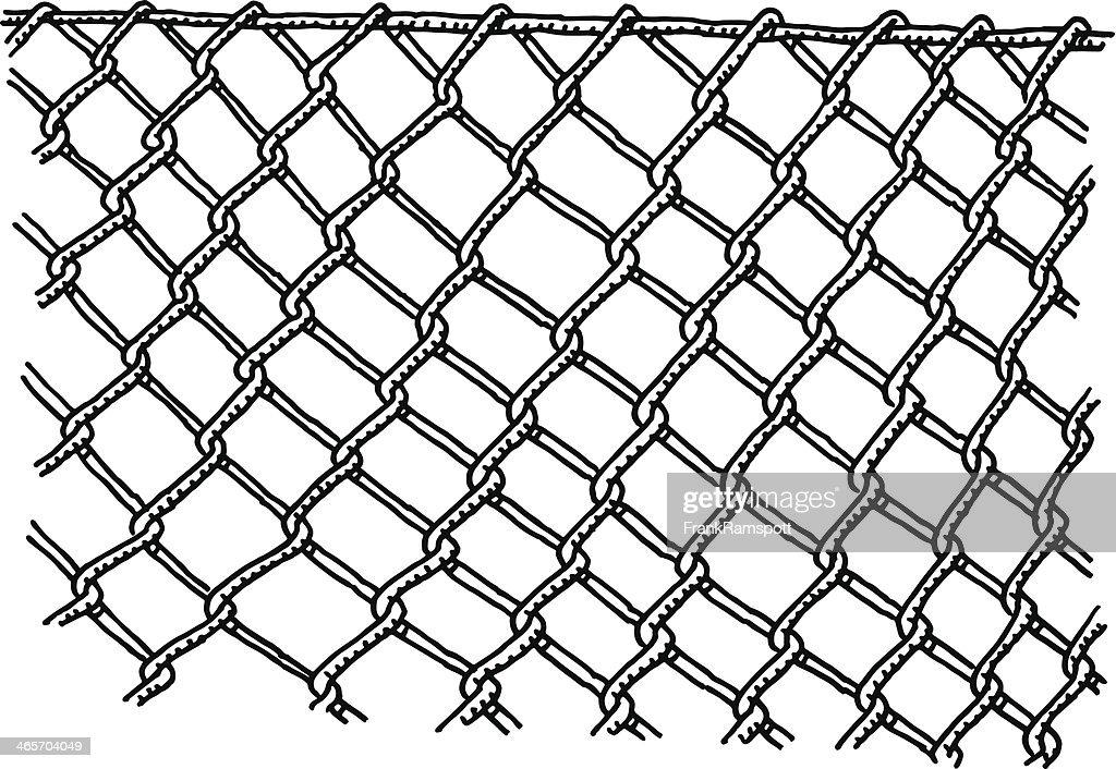 Grillage barrière dessin clipart vectoriel getty images
