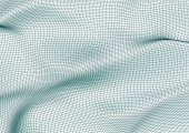 Vector illustration of a wireframed mesh silk abstract background. Modern wallpaper showing the surface of cloth or fabric