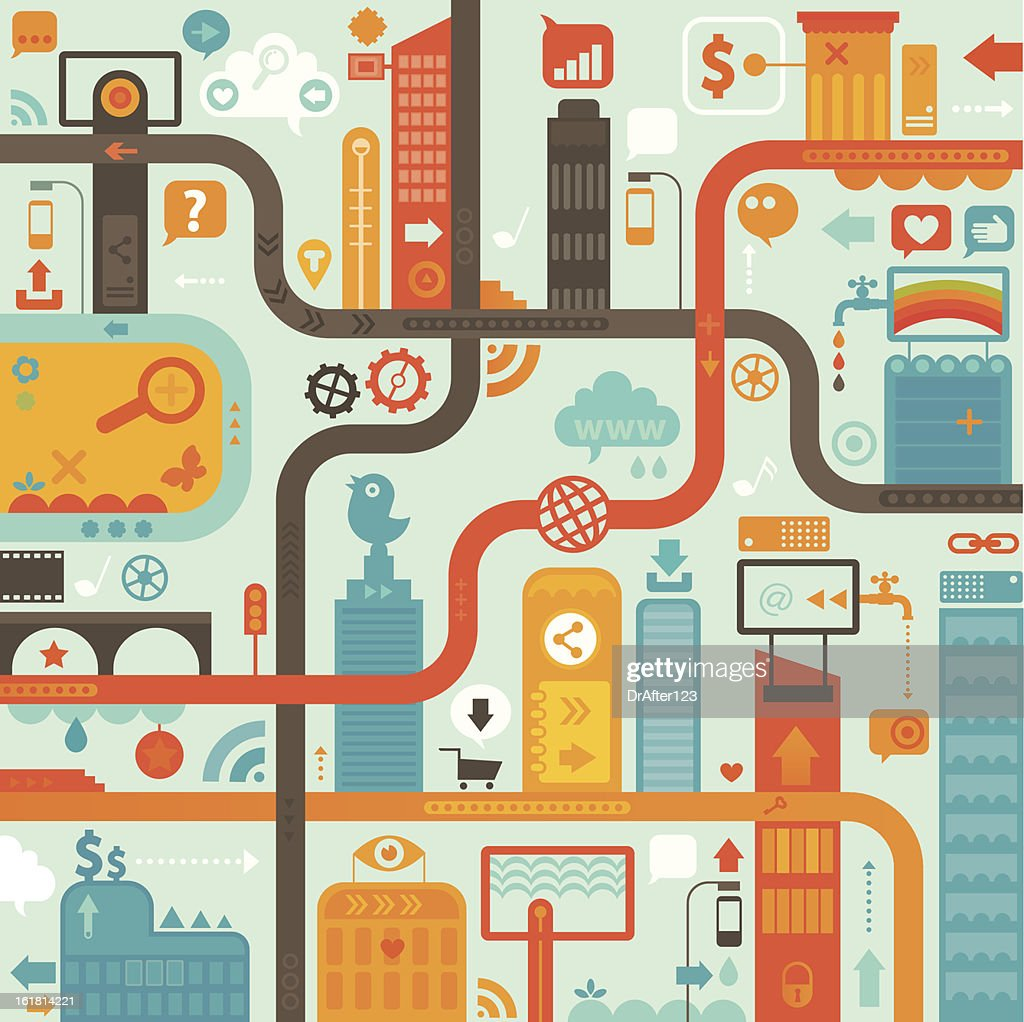 Wireless Big City : Vector Art