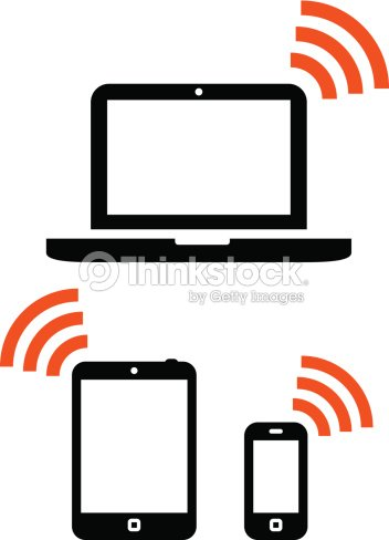 Wlan Und Mobile Geräteset Vektorgrafik   Thinkstock
