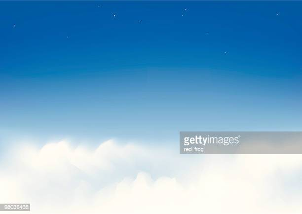 Wispy white clouds in a clear blue sky
