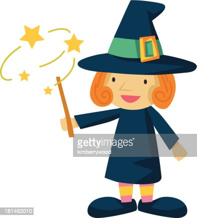 Witch and Wand : Vector Art