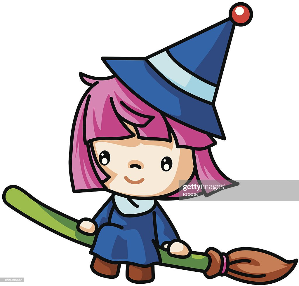 witch cartoon vector art getty images