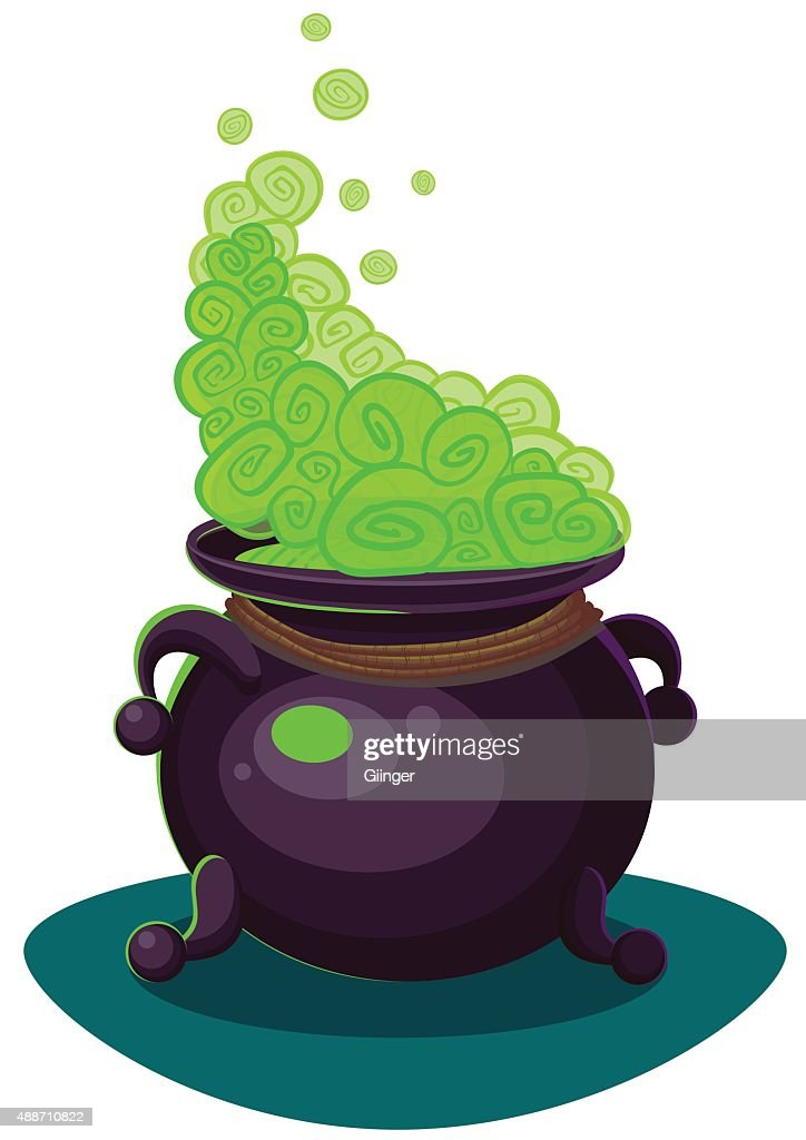 witches cauldron for halloween cards vector clip art illustrati rh thinkstockphotos com black cauldron clipart witch cauldron clipart