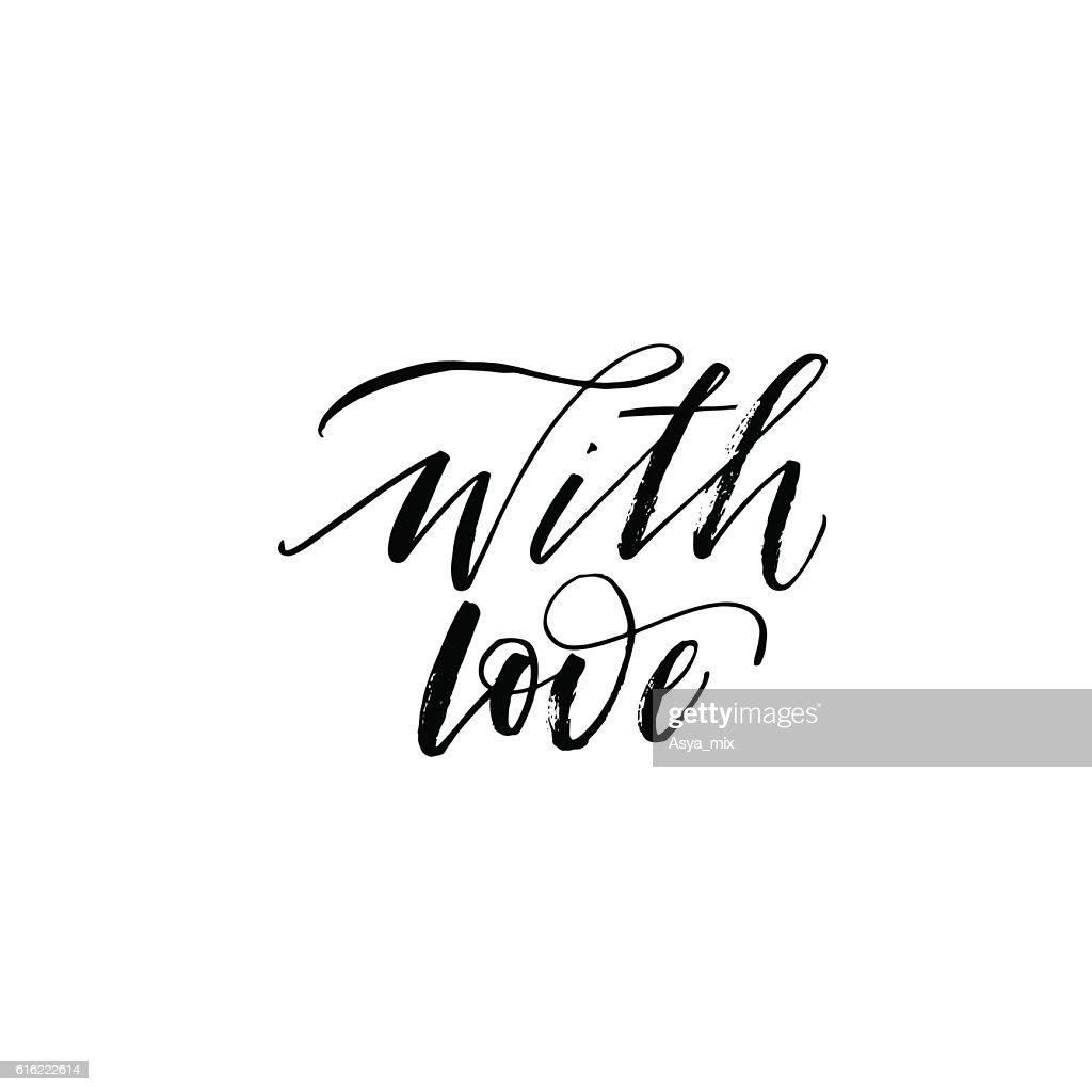 With love phrase. : Arte vettoriale