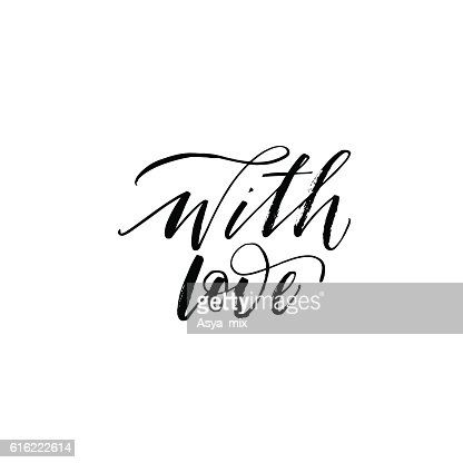 With love phrase. : Vectorkunst