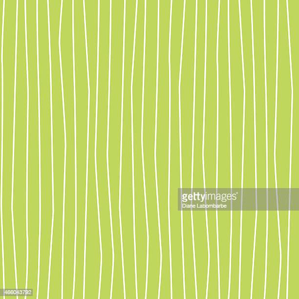 Wobbly Wavy Lines Seamless Pattern Green and White