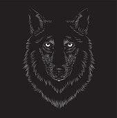 Wolf face, animal face, seriousness, serious, beast, werewolf, night, stare, staring, long fur, fur, dog, black, carnivorous, wild, t-shirt printing, eyes, native, wolves, ferocious, voracious, evil,