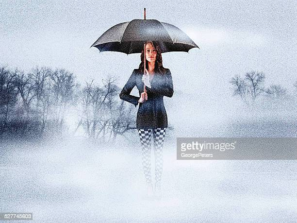 Woman and Fog