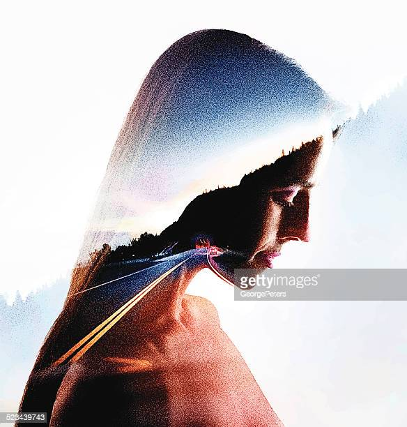 Woman and Highway