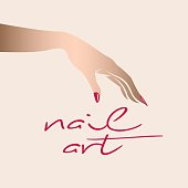 Style, beauty and nails art icon.