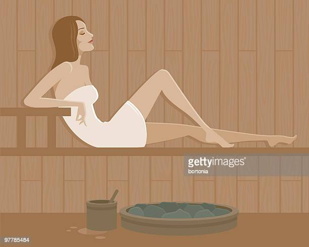 Woman in a Sauna