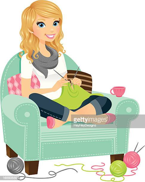 Knitting Cartoons Pictures : Knitting stock illustrations and cartoons getty images