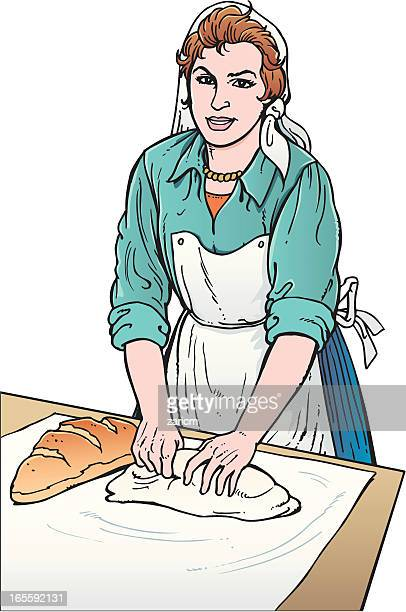 Baking Bread Stock Illustrations And Cartoons Getty Images