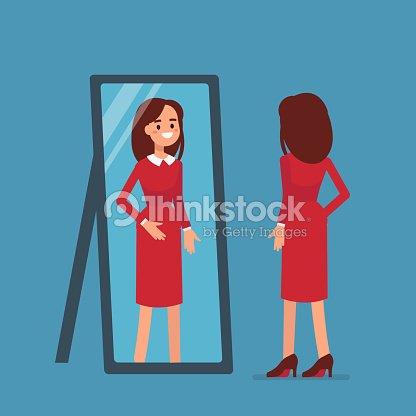 woman mirror : stock vector