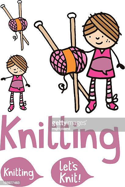 Cartoon Knitting Needles : Knitting needle stock illustrations and cartoons getty