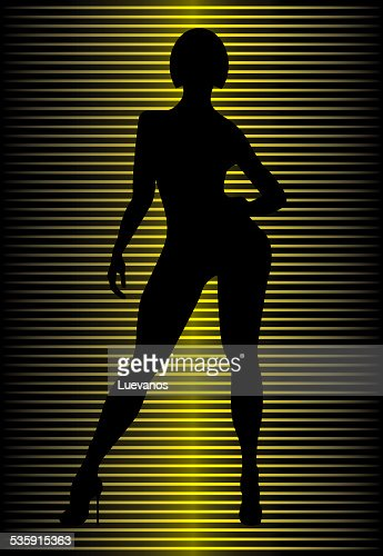 Woman Silhouette : Vector Art