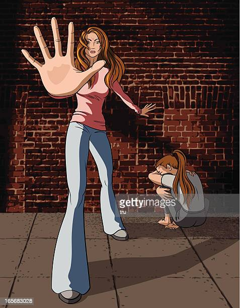 Woman Stopping Abuse