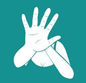 Creative vector for stop violence against women design illustration on blue background.