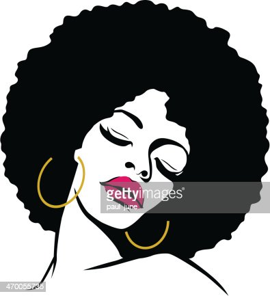 woman with afro hair vector art thinkstock