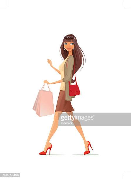 Woman with purchase.