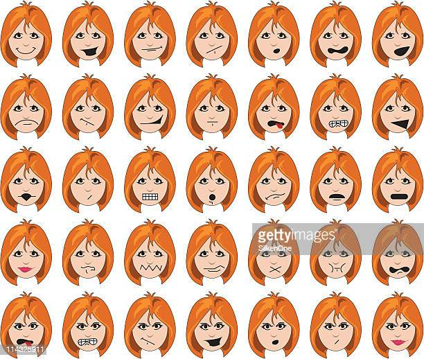 Woman's Faces - Redhead