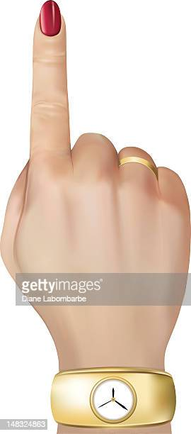 Woman's Hand Pointing Up