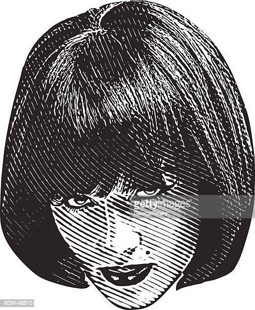 Woman's Head and Serious Facial Expression