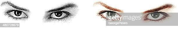 Woman's Sensuous ojos